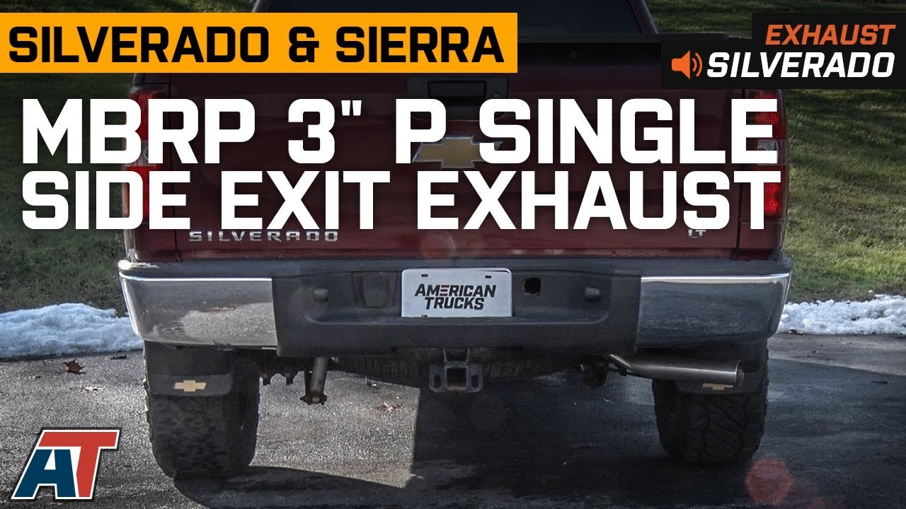 2007 2013 silverado sierra mbrp 3 p single side exit system 5 3l exhaust sound clip install