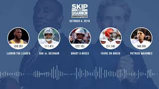 UNDISPUTED Audio Podcast (10.04.18) with Skip Bayless, Shannon Sharpe & Jenny Taft   UNDISPUTED