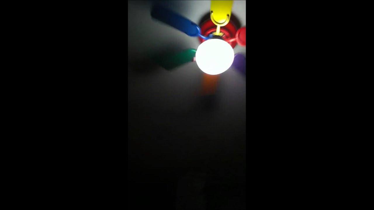 Rainbow Ceiling Fan : Heritage rainbow hugger ceiling fan update youtube