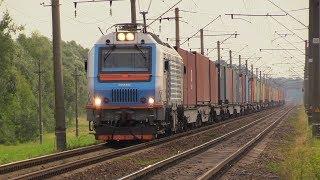 [БЧ] Електровоз БКГ2-002 на о. п. Яковчицы / [BCh] BKG2-002 passing Jakovchicy stop