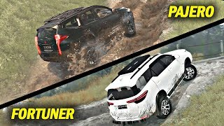 Challenges Pajero Sport VS All New Fortuner Tanjakan Offroad #SpintiresMudrunner
