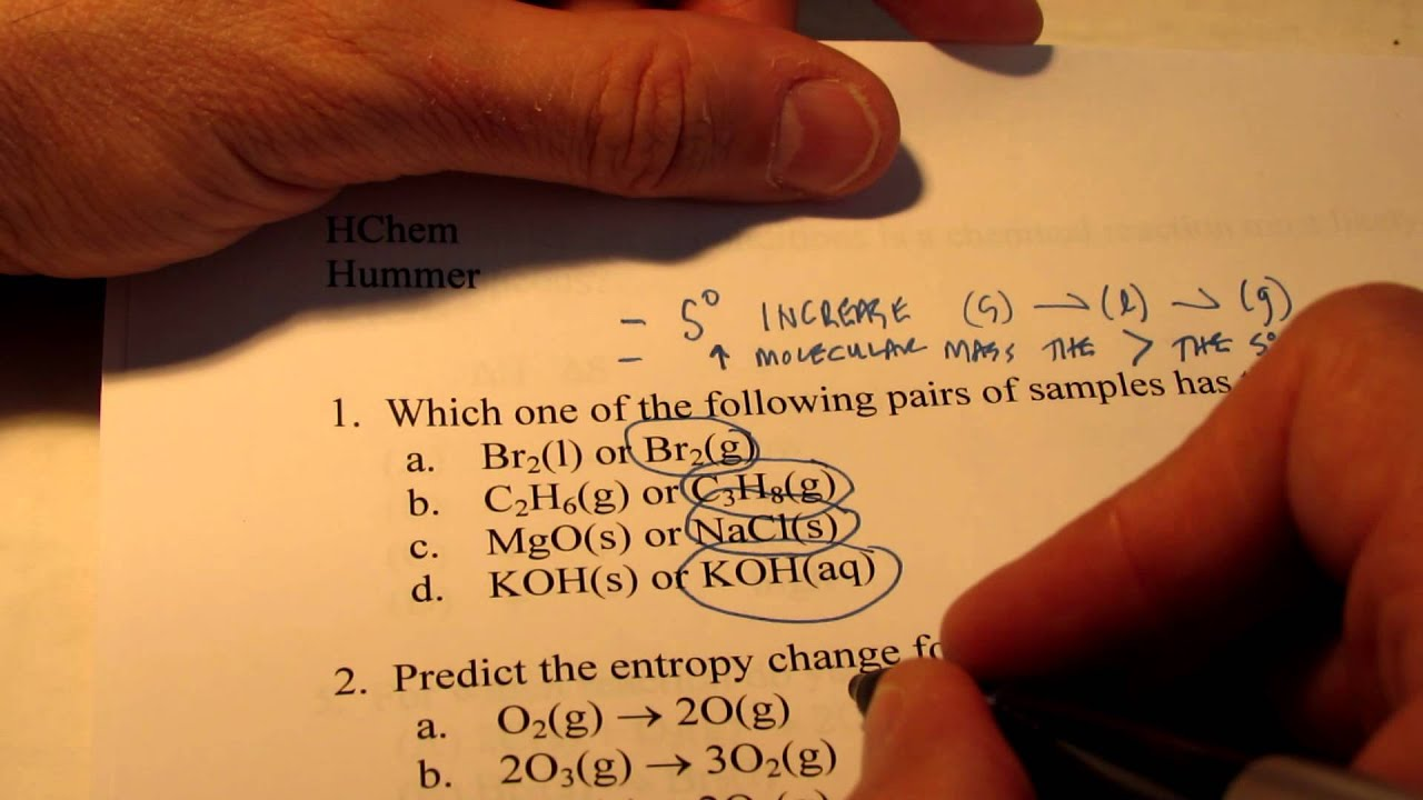 Exam Review (Part 1): Thermodynamics, Kinetics, Equilibrium - YouTube