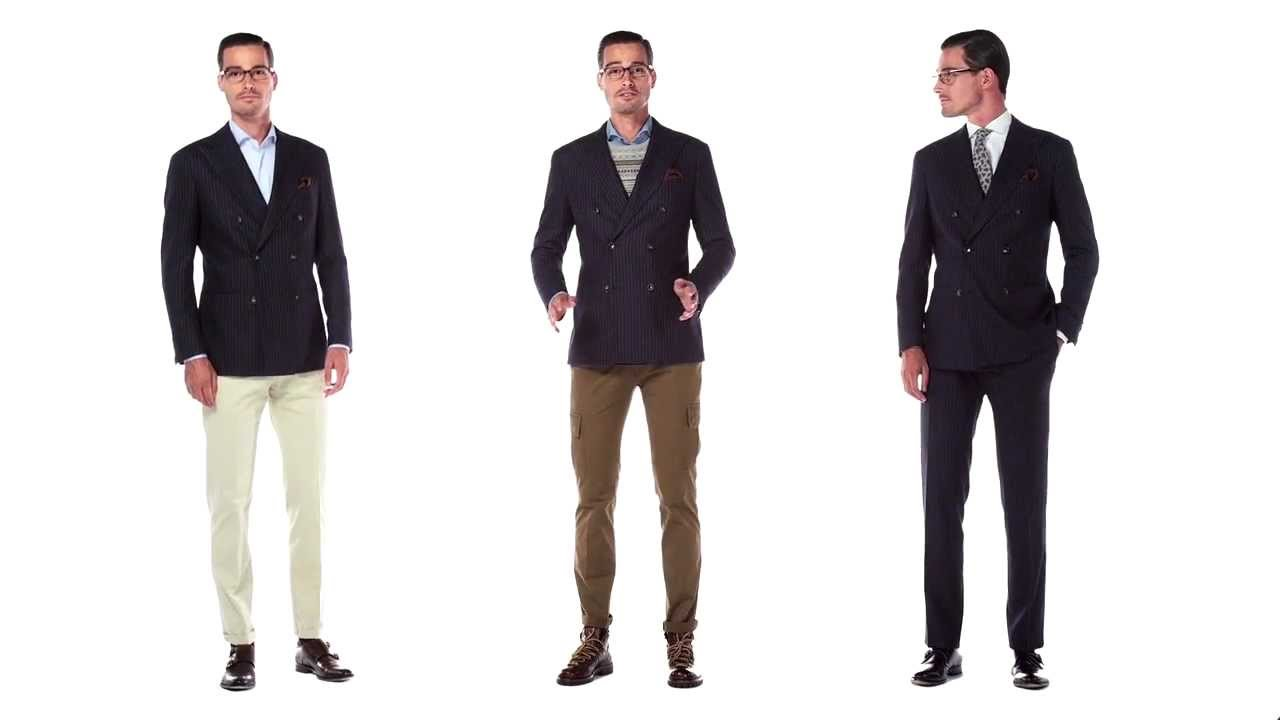 The Double-Breasted Suit Three Ways - YouTube