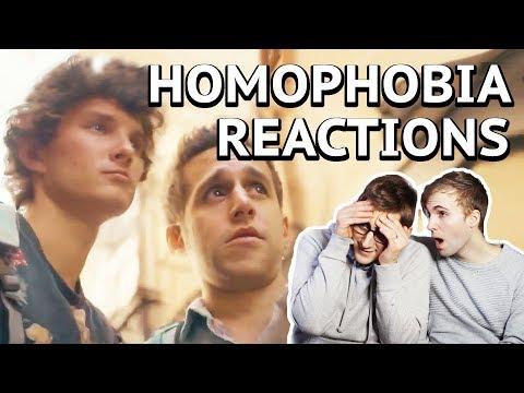 REACTIONS TO HOMOPHOBIA (Social Experiment) - Gay couple REACTION