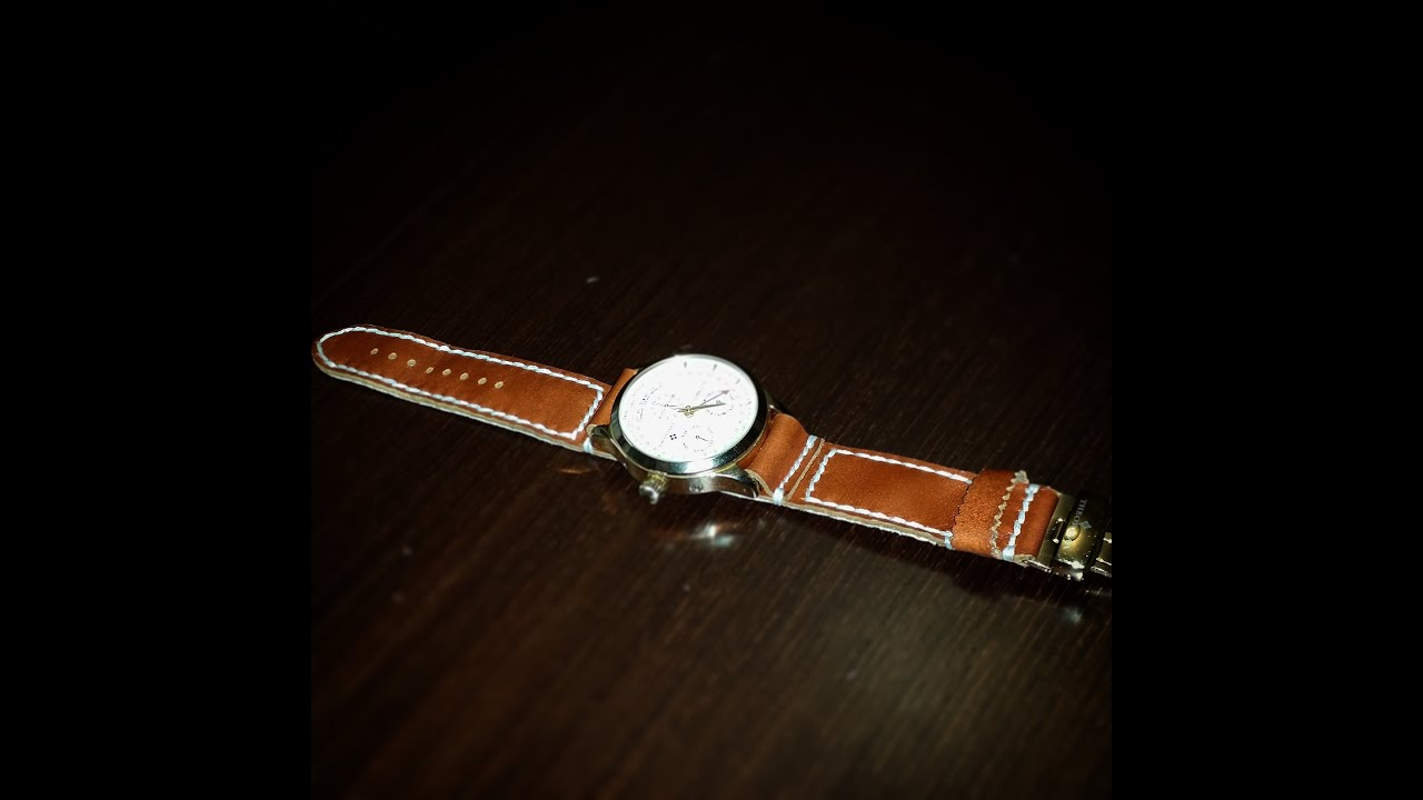 Сделать кожаный браслет для часов