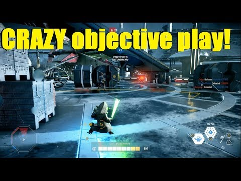 Star Wars Battlefront 2 - Best hero for objective play: YODA! |  Crazy objective play!