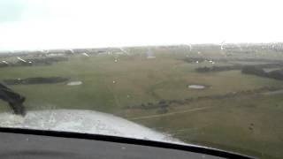 Landing At King Island Airport, VH-MSM, Tasmanian Air Ambulance, March 2013