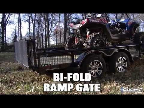 Diamond C Trailers Bi Fold Ramp Gate Youtube