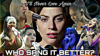 FILIPINO SINGERS ATTEMPTING I'LL NEVER LOVE AGAIN | A STAR IS BORN | LADY GAGA