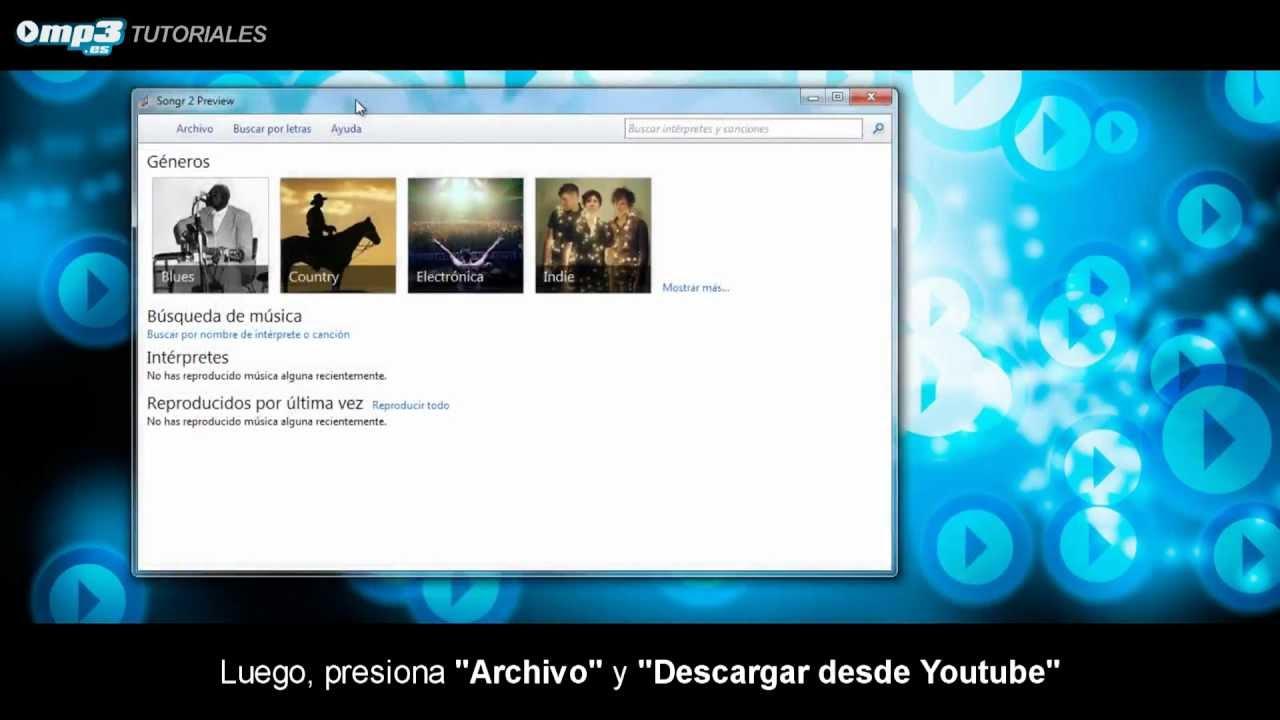 musica da youtube con songr