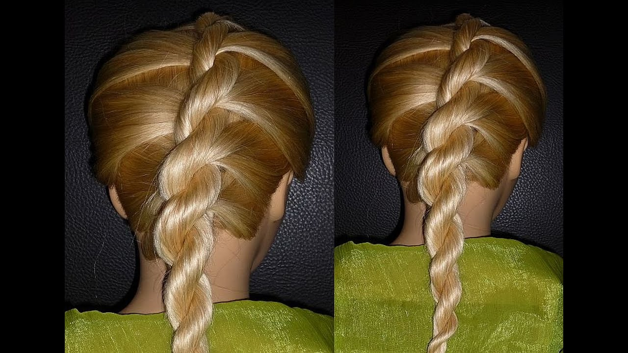 FRENCH TWIST ROPE BRAID Hairstyle.Hair Tutorial. Back To