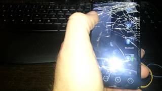Sprint HTC Evo 4g Cracked Screen Video for eBay