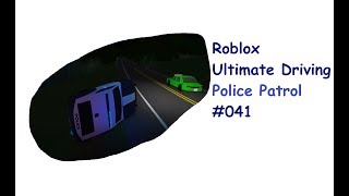 Roblox: Ultimate Driving | Police Patrol #041 | Difficult Chase! | [Huski/English]