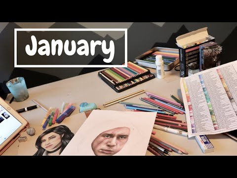 JANUARY ART VLOG | Drawing Star Wars and The Witcher