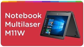 Notebook 2 em 1 Multilaser M11W Intel Quad Core - 2GB SSD 32GB LCD 11,6