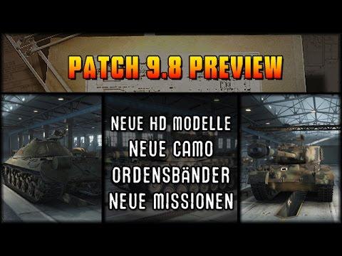 World of Tanks - Patch 9.8 Preview - neue HD Modelle [ deutsch | HD ]