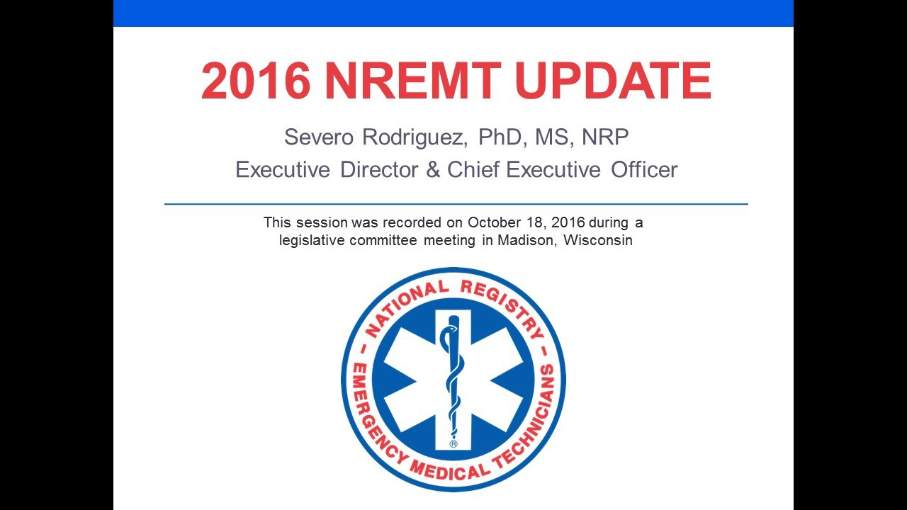 2016 nremt update national certification exams program 2016 nremt update national certification exams program performance xflitez Images