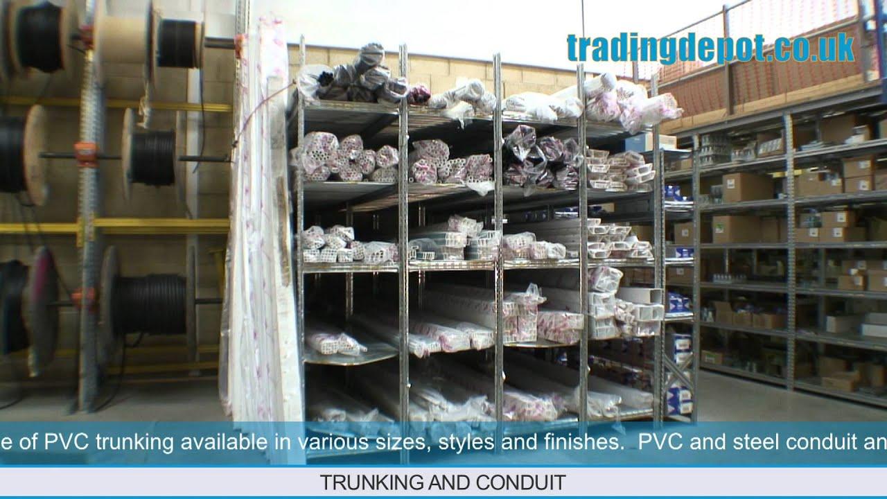 TRADING DEPOT: Conduit, PVC & Steel Trunking - YouTube