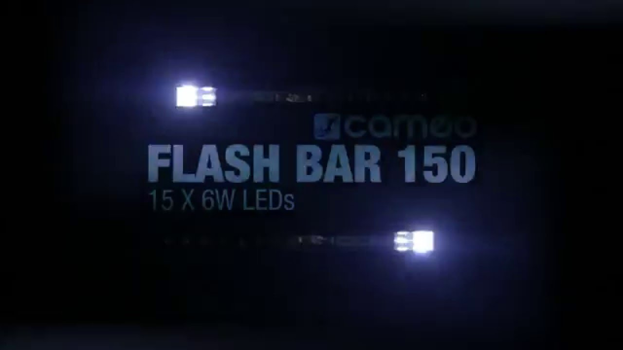 Cameo Flash Bar 150 3 In 1 Strobe Chase And Blinder Effect Dark Activated Led Or Lamp Flasher Fixture Youtube