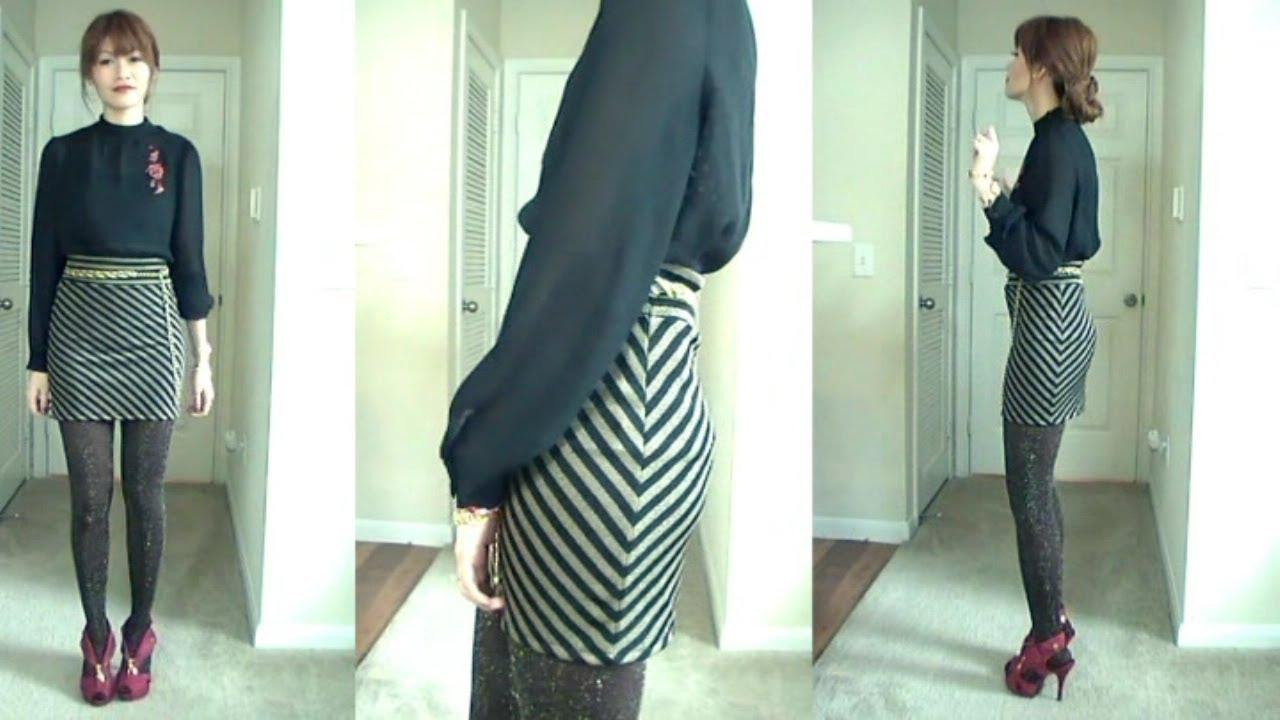 DIY Mini Knit Skirt - YouTube