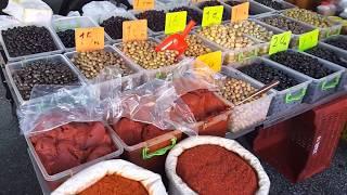 Рынок в Турции в Аланье зимой 2018 года выбираем продукты