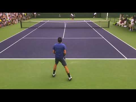 Roger Federer Practice With Tommy Haas Indian Wells 2013 ...