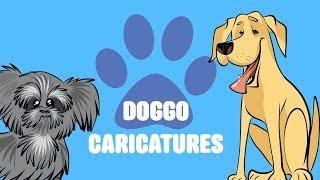 dog caricature
