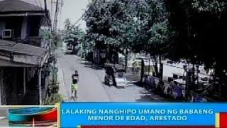 BP: Lalaking nanghipo umano ng babaeng menor de edad, arestado