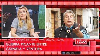 """Carmela Bárbaro y Luis Ventura tuvieron un cruce en vivo: """"¿Vos estás bien?"""""""