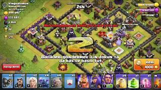 Clash of clans-golem ve pekka saldırısı mükemmel saldiri