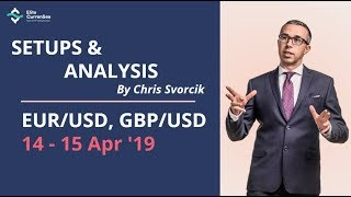 EUR/USD, GBP/USD Analysis & Setups 14 - 15 Apr '19