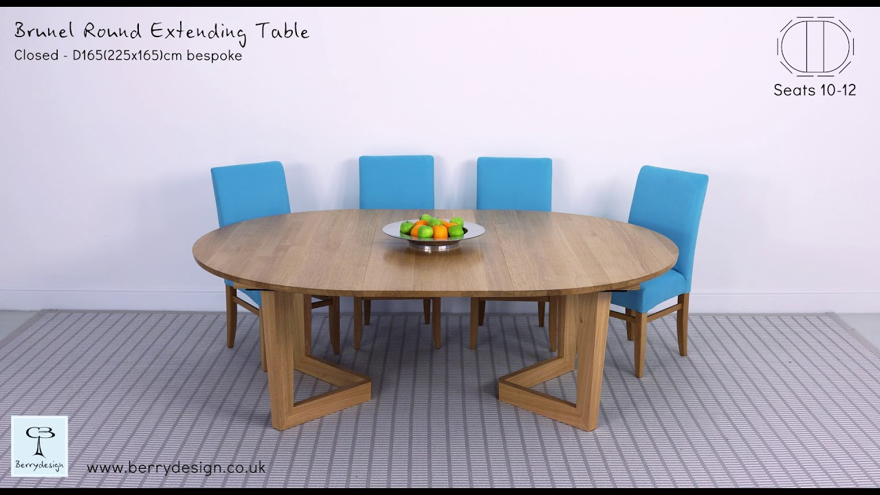 bcb7511c15e7 Brunel round dining table video - YouTube