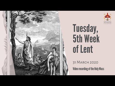 Catholic Weekday Mass Online - Tuesday, 5th Week of Lent