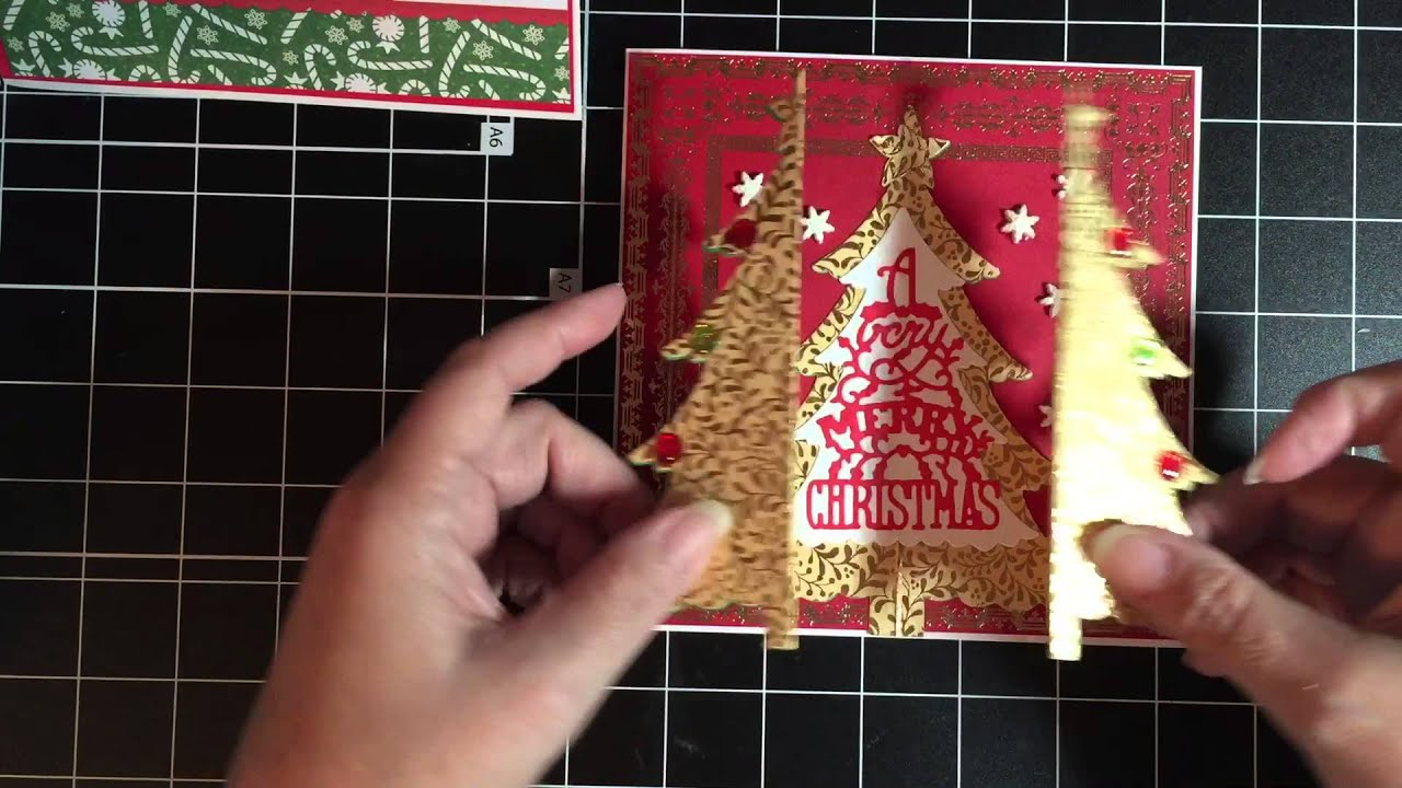 Christmas Cards Sizzix Tree Die Crafters Companion