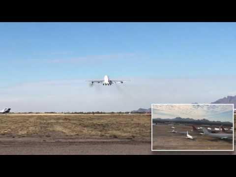 Delta Boeing 747 flyover - Marana, AZ