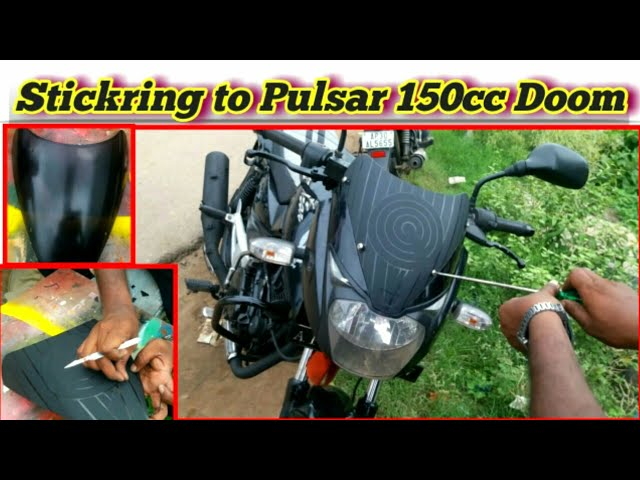 Stickering To Pulsar 150 CC Doom   Remodelling Old Bikes   Bike Stickering   Neelu Arts