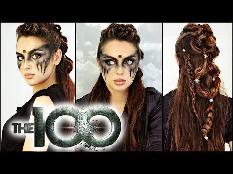 Commander Lexa Hair & Makeup Tutorial!   The 100