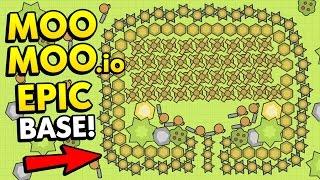 MOOMOO.IO BIGGEST TEAM BASE ON THE LEADERBOARD! (Moomoo.io Funny Gameplay)