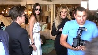 Khloe Kardashian Curses And Shoves Photog While Shopping With Kris And Kendall