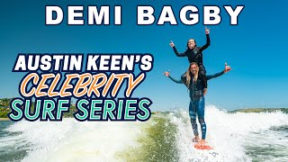 Demi Bagby Wakesurfing on Austin Keen's Shoulders! Celebrity Surf Series