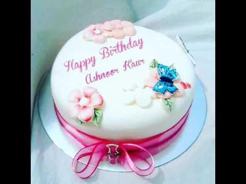 Birthday Cakes With Name Sudha ~ Ashu happy birthday youtube