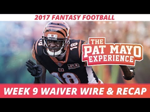 2017 Fantasy Football - Week 9 Waiver Wire Rankings, Injuries, Recap + MORE