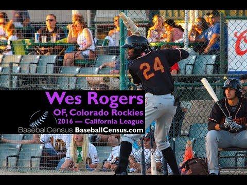 Wes Rogers, OF, Colorado Rockies — 2016 California League