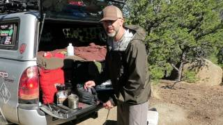 Truck Camping: Kitchen Set Up