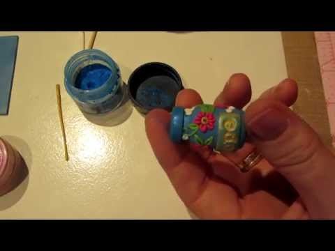 Clay Applique on a Bottle Tutorial