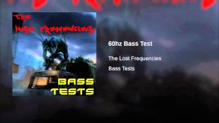 60hz Bass Test
