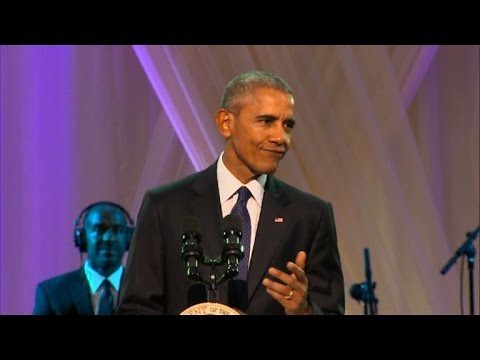 Obama hosts final BET music show at White...
