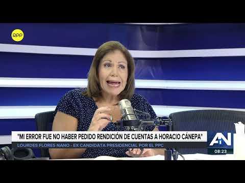 """Lourdes Flores: """"Mi error fue no haber pedido rendición de cuentas a Horacio Cánepa"""" 1/2"""