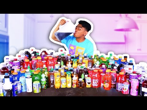 MIXING 100 DRINKS TOGETHER AND DRINKING IT!