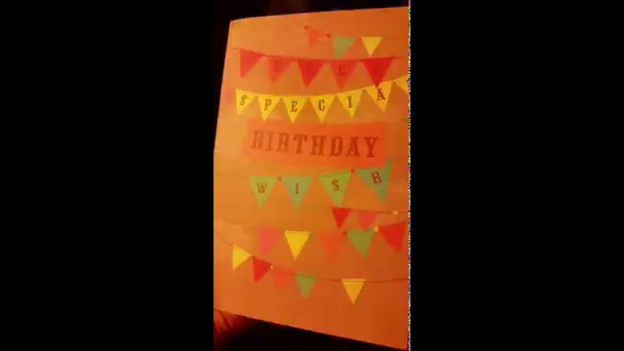 Record your own birthday card YouTube – Record Your Own Birthday Card